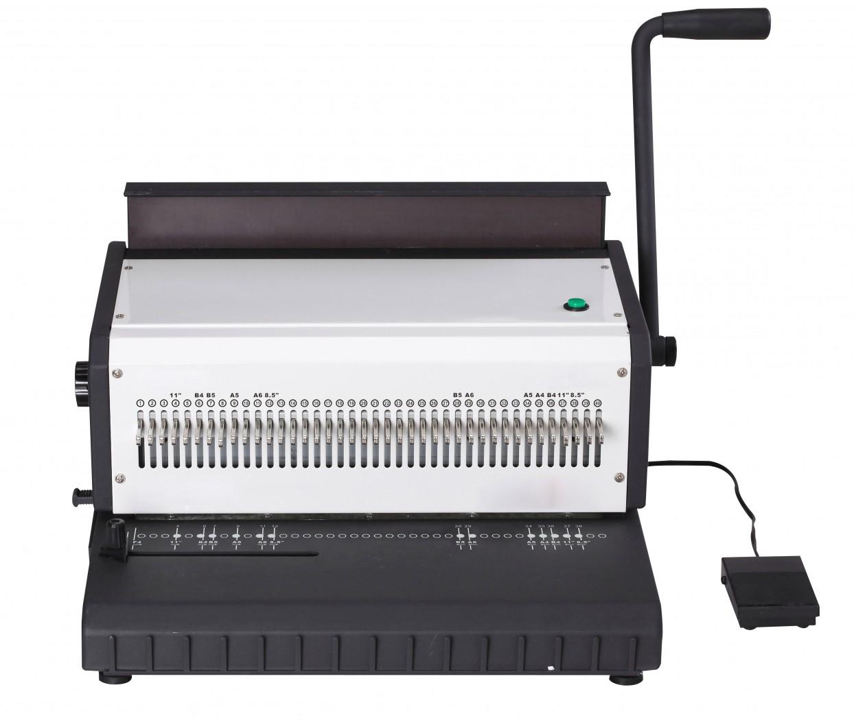 Брошюровщик Office Kit B2112 ручная перфорация 12 листов переплет max 250 листов пластик.пружина (6-28мм) регулир.отступа 1 рукоятка